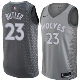 Camiseta Jimmy Butler #23 Minnesota Timberwolves 17/18 Gris City Edition
