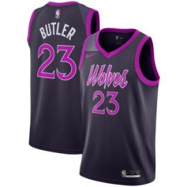 Camiseta Jimmy Butler #23 Minnesota Timberwolves 18/19 Púrpura City Edition