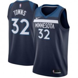 Camiseta Karl-Anthony Towns #32 Minnesota Timberwolves 17/18 Azul Marino Icon
