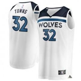 Camiseta Karl-Anthony Towns #32 Minnesota Timberwolves 17/18 Blanco Association