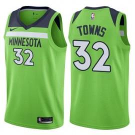 Camiseta Karl-Anthony Towns #32 Minnesota Timberwolves 17/18 Verde Statement