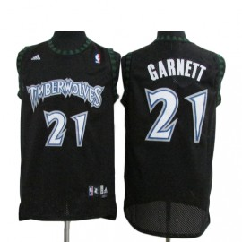 Camiseta Kevin Garnett #21 Minnesota Timberwolves Negro Classic