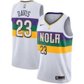Camiseta Anthony Davis #23 New Orleans Pelicans 18/19 Blanco City Edition