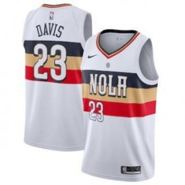 Camiseta Anthony Davis #23 New Orleans Pelicans 18/19 Blanco Earned Edition