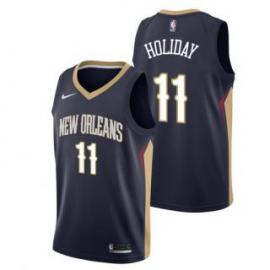 Camiseta Jrue Holiday #11 New Orleans Pelicans 17/18 Negro Icon