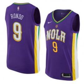 Camiseta Rajon Rondo #9 New Orleans Pelicans 17/18 Púrpura City Edition