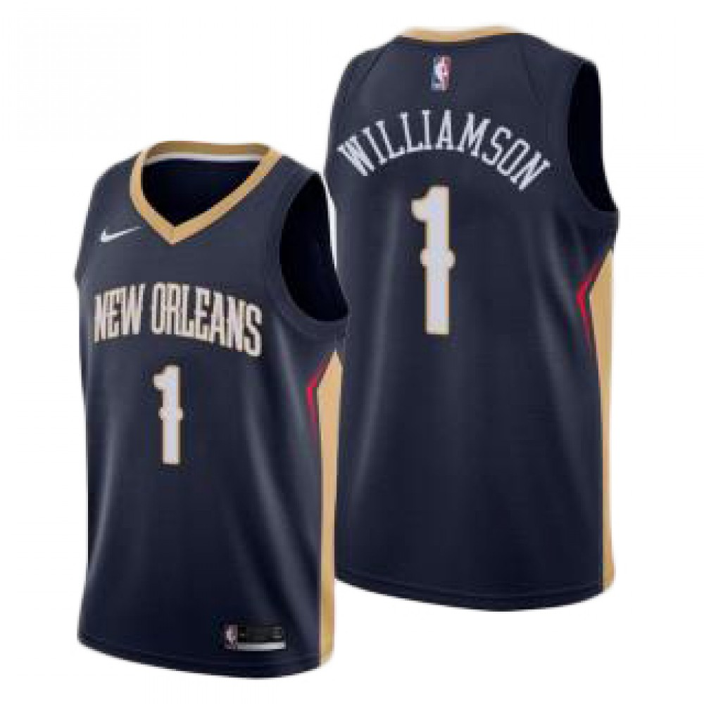 Camiseta Zion Williamson #1 New Orleans Pelicans 17/18 Negro Icon