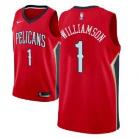 Camiseta Zion Williamson #1 New Orleans Pelicans 17/18 Rojo Statement