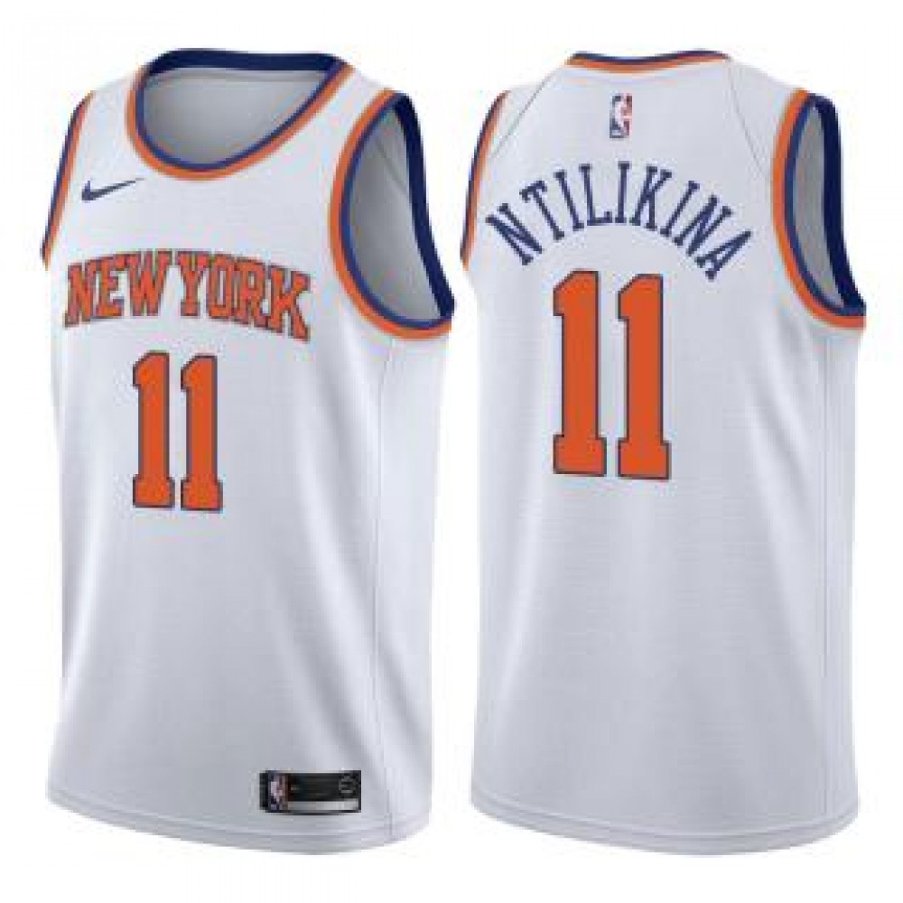 Camiseta Frank Ntilikina #11 New York Knicks 17/18 Blanco Association