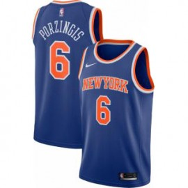 Camiseta Kristaps Porziņģis #6 New York Knicks 17/18 Azul Icon