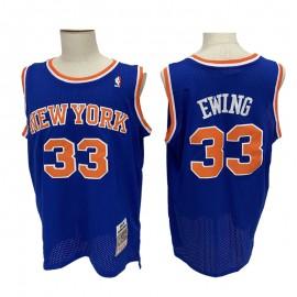 Camiseta Patrick Ewing #33 New York Knicks Azul Mitchell & Ness