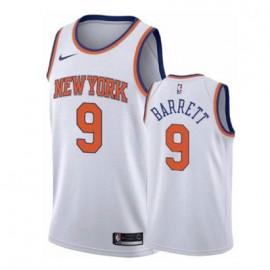 Camiseta RJ Barrett #9 New York Knicks 19/20 Blanco Association