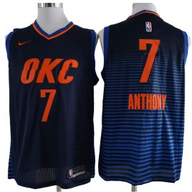 Camiseta Carmelo Anthony #7 Oklahoma City Thunder 17/18 Azul Marino Statement