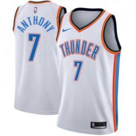 Camiseta Carmelo Anthony #7 Oklahoma City Thunder 17/18 Blanco Association
