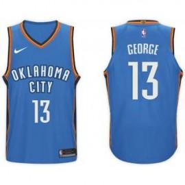 Camiseta Paul George #13 Oklahoma City Thunder 17/18 Azul Icon