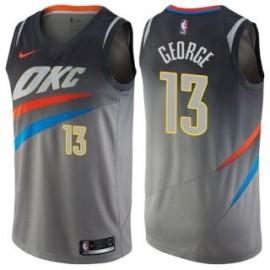 Camiseta Paul George #13 Oklahoma City Thunder 17/18 Gris City Edition