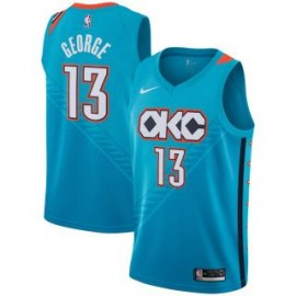 Camiseta Paul George #13 Oklahoma City Thunder 18/19 Azul City Edition