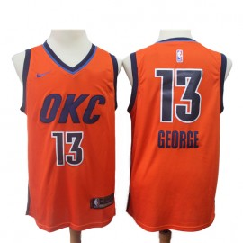 Camiseta Paul George #13 Oklahoma City Thunder 18/19 Naranja Earned Edition