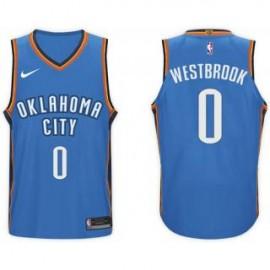 Camiseta Russell Westbrook #0 Oklahoma City Thunder 17/18 Azul Icon