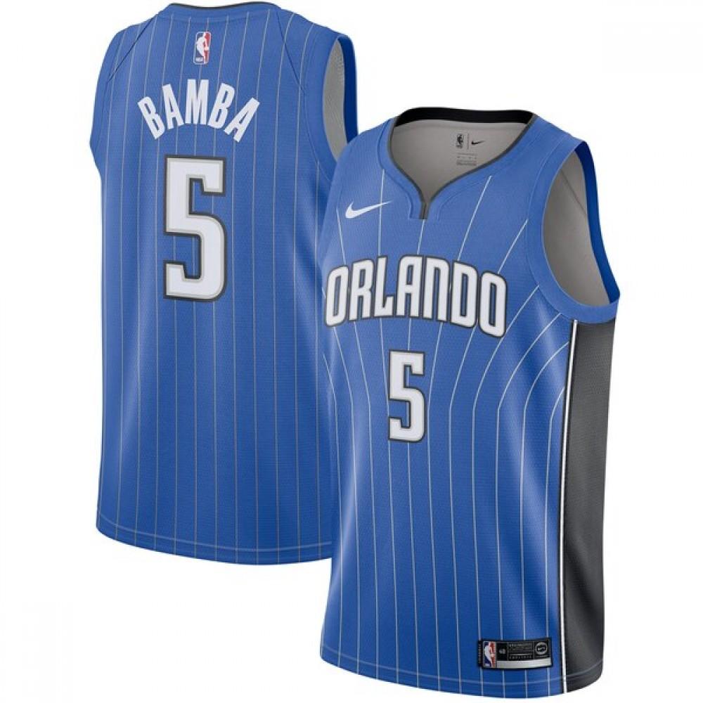 Camiseta Mohamed Bamba #5 Orlando Magic 17/18 Azul Icon
