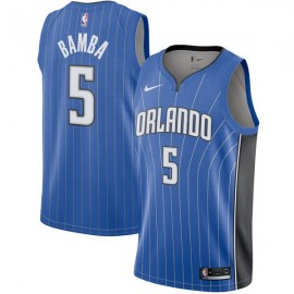 Camiseta Mohamed Bamba #5 Orlando Magic 17/18 Azul Icon