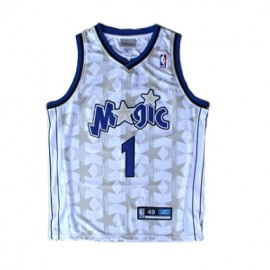 Camiseta Tracy McGrady #1 Orlando Magic 01/02 Blanco Classic