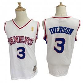 Camiseta Allen Iverson #3 Philadelphia 76ers Blanco