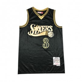 Camiseta Allen Iverson #3 Philadelphia 76ers Negro Mouse Limited Edition