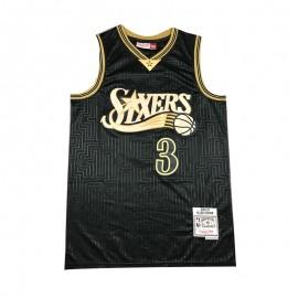 Camiseta Allen Iverson #3 Philadelphia 76ers Negro Mouse Limited Edition