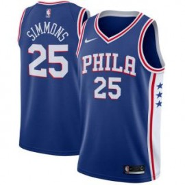 Camiseta Ben Simmons #25 Philadelphia 76ers 17/18 Azul Icon Edition