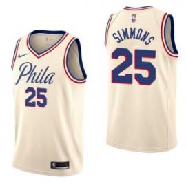 Camiseta Ben Simmons #25 Philadelphia 76ers 17/18 Beige City Edition