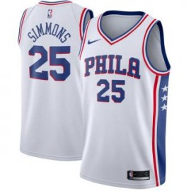 Camiseta Ben Simmons #25 Philadelphia 76ers 17/18 Blanco Association Edition