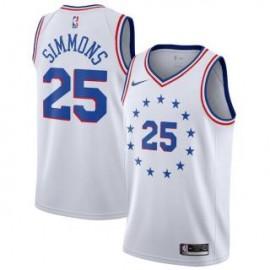 Camiseta Ben Simmons #25 Philadelphia 76ers 18/19 Blanco Earned Edition
