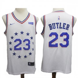 Camiseta Jimmy Butler #23 Philadelphia 76ers 18/19 Blanco Earned Edition