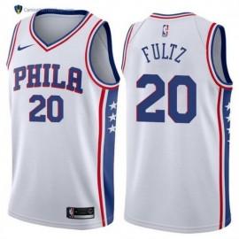 Camiseta Markelle Fultz #20 Philadelphia 76ers 17/18 Blanco Association Edition