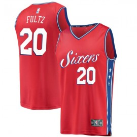 Camiseta Markelle Fultz #20 Philadelphia 76ers 17/18 Rojo Statemente Edition