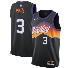 Camiseta Chris Paul #3 Phoenix Suns 2020/21 Negro City Edition