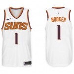 Camiseta Devin Booker #1 Phoenix Suns 17/18 Blanco Association Edition