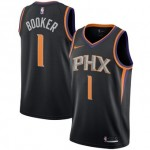 Camiseta Devin Booker #1 Phoenix Suns 17/18 Negro Statement Edition
