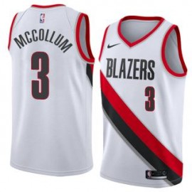 Camiseta CJ McCollum #3 Portland Trail Blazers 17/18 Blanco Association Edition