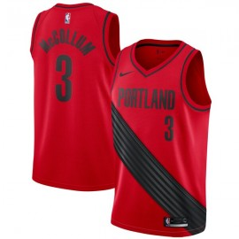 Camiseta CJ McCollum #3 Portland Trail Blazers 17/18 Rojo Statement Edition