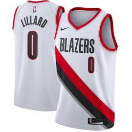 Camiseta Damian Lillard #0 Portland Trail Blazers 17/18 Blanco Association Edition