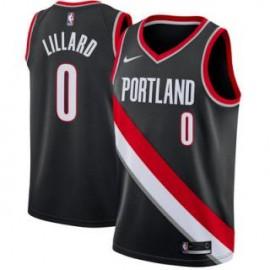 Camiseta Damian Lillard #0 Portland Trail Blazers 17/18 Negro Icon Edition