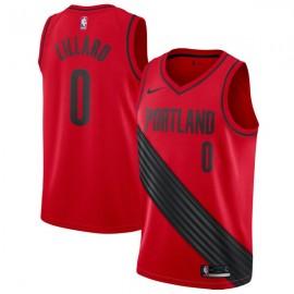 Camiseta Damian Lillard #0 Portland Trail Blazers 17/18 Rojo Statement Edition