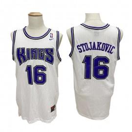 Camiseta Peja Stojaković #16 Sacramento Kings Blanco