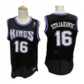 Camiseta Peja Stojaković #16 Sacramento Kings Negro