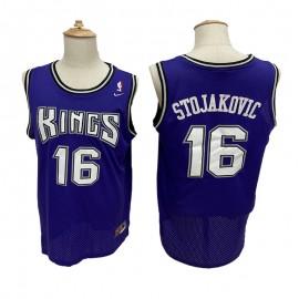 Camiseta Peja Stojaković #16 Sacramento Kings Púrpura