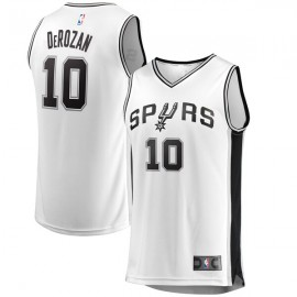 Camiseta DeMar DeRozan #10 San Antonio Spurs 17/18 Blanco Association Edition