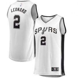 Camiseta Kawhi Leonard #2 San Antonio Spurs 17/18 Blanco Association Edition