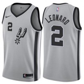 Camiseta Kawhi Leonard #2 San Antonio Spurs 17/18 Gris Statement Edition